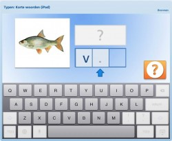 Typen: korte woorden (iPad)