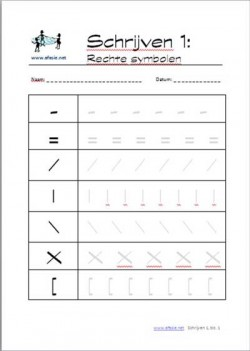 Schrijven 1: Rechte symbolen